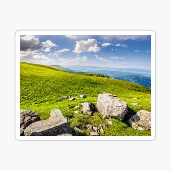 boulders on the Carpathian hillside Sticker