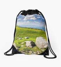 boulders on the Carpathian hillside Drawstring Bag