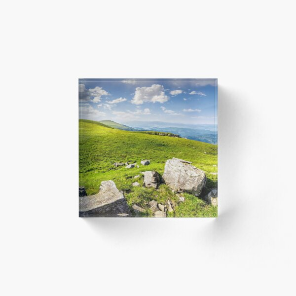 boulders on the Carpathian hillside Acrylic Block