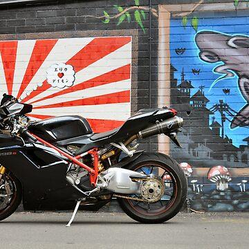 Ducati & Street Art by Bami