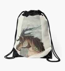 Kirin Bust Drawstring Bag