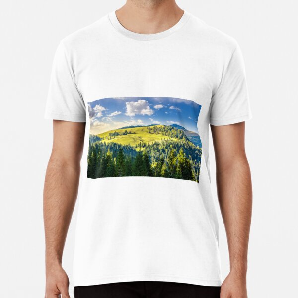 coniferous forest on the hill Premium T-Shirt