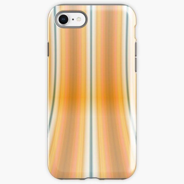 Gestreifte Leinwand rund iPhone Robuste Hülle