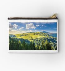 coniferous forest on the hill Studio Pouch