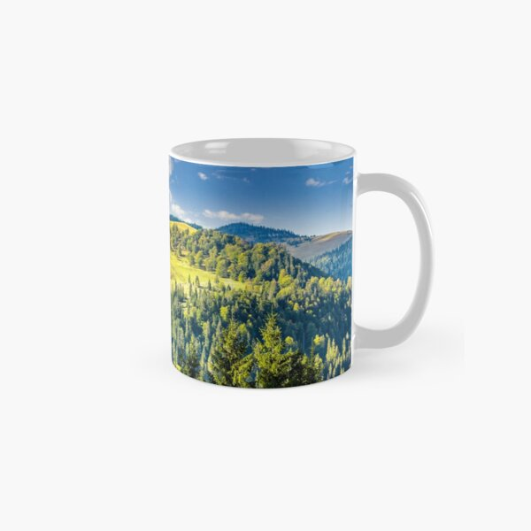 coniferous forest on the hill Classic Mug
