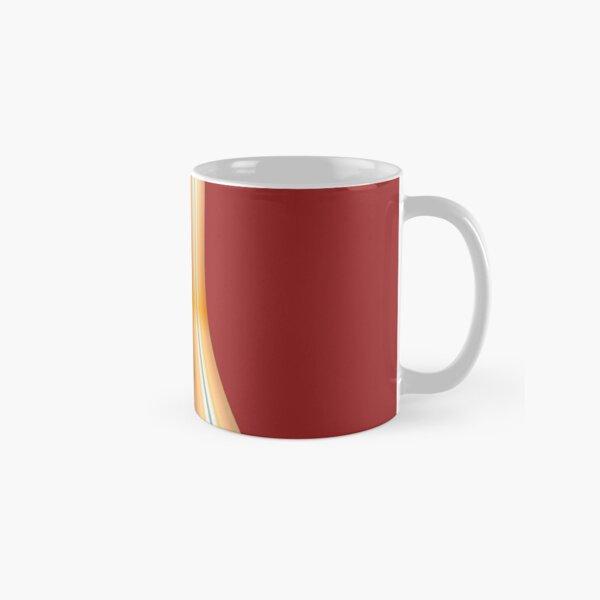 Gestreifte Leinwand rund Tasse (Standard)