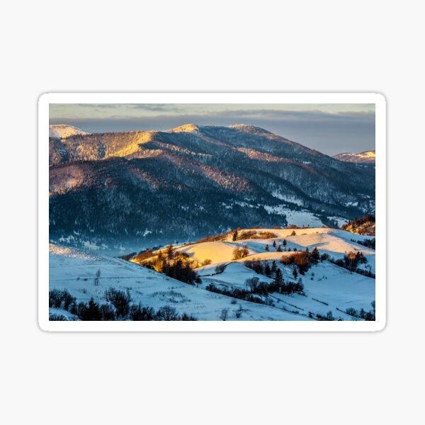 sunrise in winter carpathians Sticker