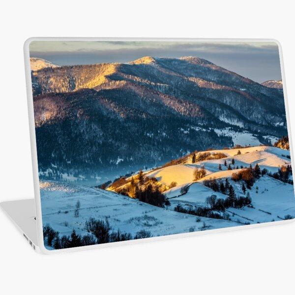 sunrise in winter carpathians Laptop Skin