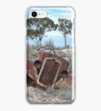 Old wreck at Lunatic Hill (Lightning Ridge NSW) iPhone Case/Skin