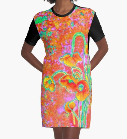 Flowers Graphic T-Shirt Dress