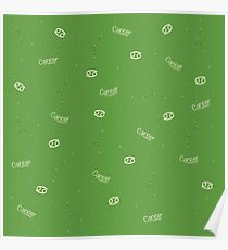 Cancer Pattern - Green Poster