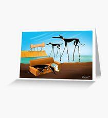 Greylvador Dali Greeting Card