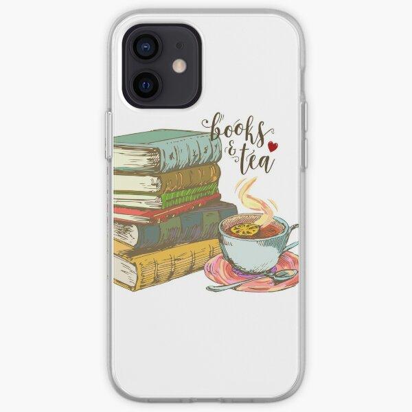 Books and tea iPhone Soft Case