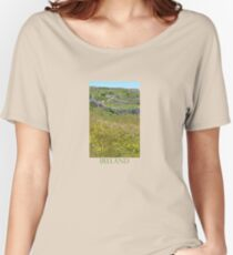 Flowers emerge from stone, stone from flowers Women's Relaxed Fit T-Shirt