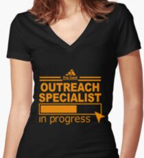 OUTREACH SPECIALIST BEST COLLECTION 2017 Women's Fitted V-Neck T-Shirt
