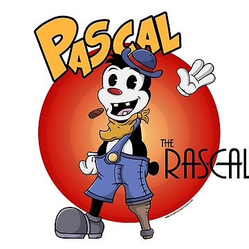 pascal the rascal classic cartoon design graphic t shirt by