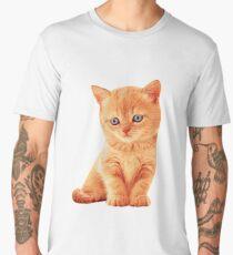 Adorable Ginger Tabby Kitten Very Cute Men's Premium T-Shirt