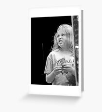 Girl with Money Greeting Card