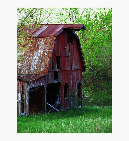 Big Red Barn Photographic Print