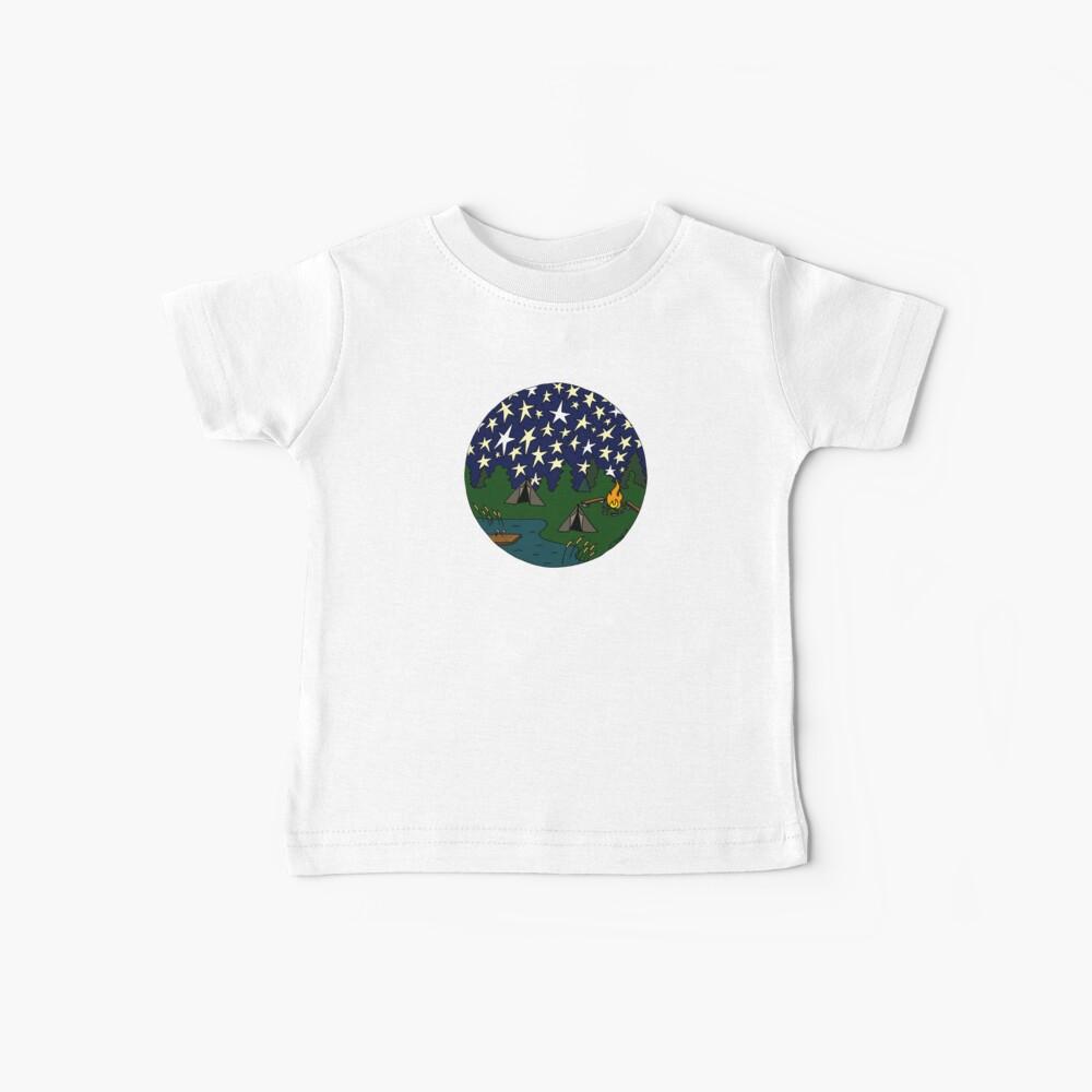 Bajo las estrellas Camiseta para bebés