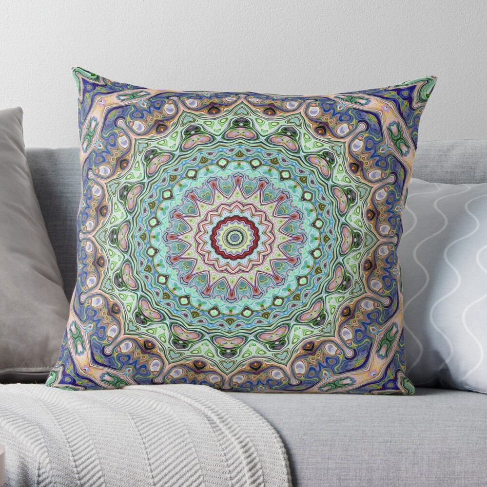 Circle of Symmetry Throw Pillow