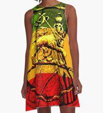 Rasta Lion of Judah A-Line Dress