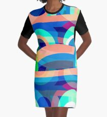 Marine abstraction Graphic T-Shirt Dress