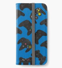 Video game controller background Gadgets seamless pattern iPhone Wallet