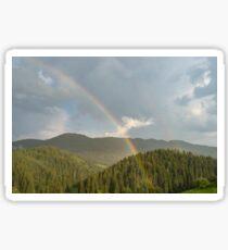 Summer Storms and Rainbows - Rhodope Mountain Range in Bulgaria Sticker