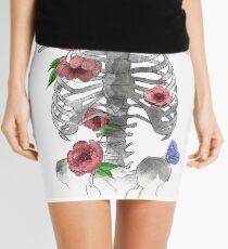 Floral Bones Mini Skirt