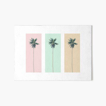 Retro Palms Art Board Print