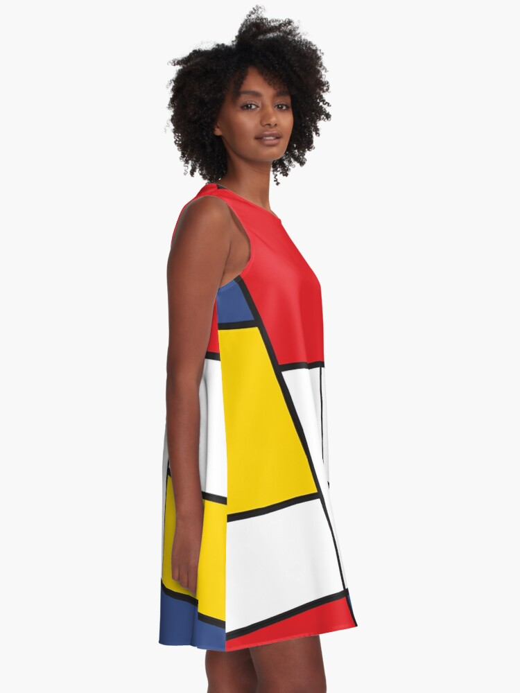 Alternate view of In the Style of Mondrian A-Line Dress