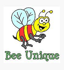Bee Unique Cartoon Bee Photographic Print