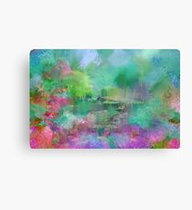Pastel Impressions of Monet's Water Lily Pond Canvas Print