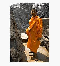 Buddhist Youth - Cambodia Photographic Print