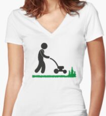 Gardening is fun Women's Fitted V-Neck T-Shirt