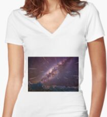 Kaboom Women's Fitted V-Neck T-Shirt