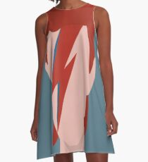 David Bowie - Aladdin Sane A-Line Dress