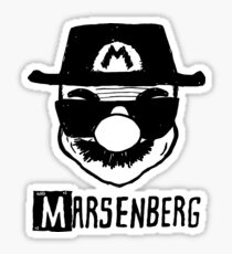 Mario + Heisenberg = Marsenberg Sticker