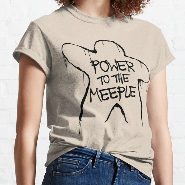 Power to the meeple   Boardgames Classic T-Shirt