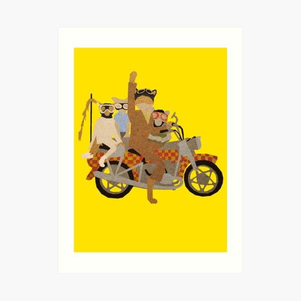 Fantastic Mr Motorcycle  Art Print