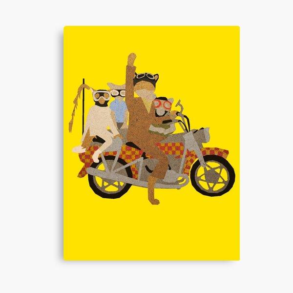 Fantastic Mr Motorcycle  Canvas Print