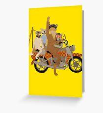 Fantastic Mr Motorcycle  Greeting Card