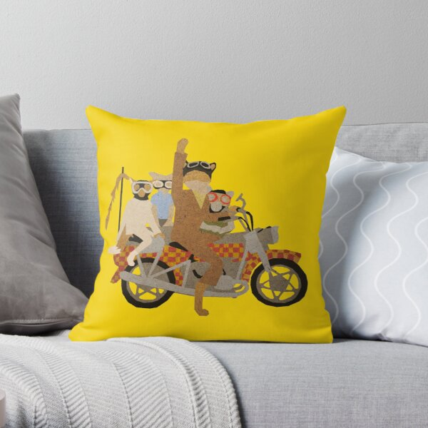 Fantastic Mr Motorcycle  Throw Pillow