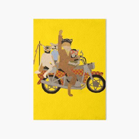 Fantastic Mr Motorcycle  Art Board Print