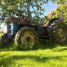 Tractor on the yard by Mikko  Suhonen