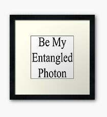 Photon Entanglement Framed Print