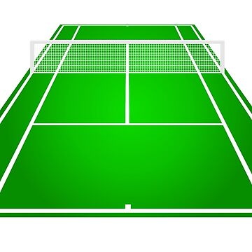 TENNIS, Tennis court, Game, Perspective by TOMSREDBUBBLE
