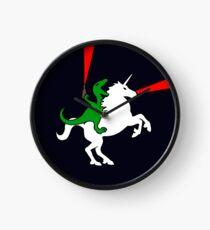 Dinosaur Riding Unicorn Clock