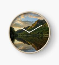Eagle Cliff from Profile Lake, Franconia Notch State Park, New Hampshire Clock
